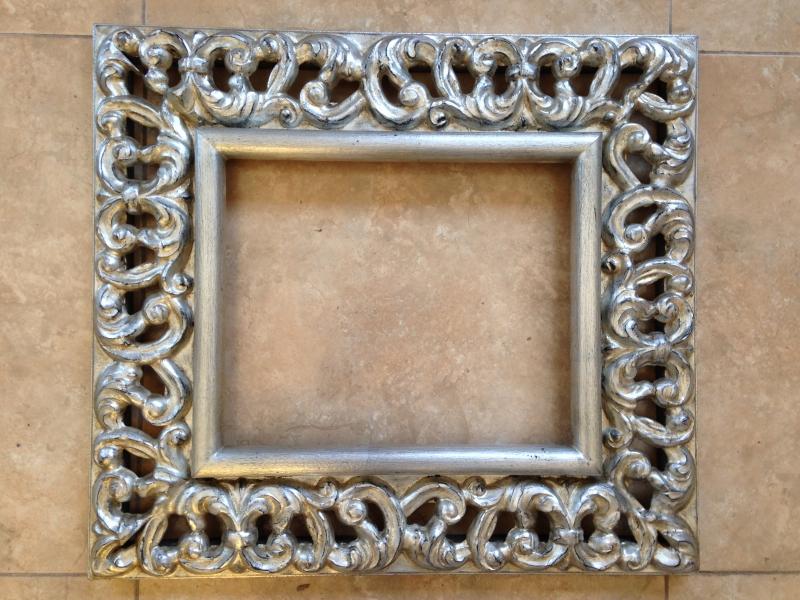 Marcos espejos pan de plata for Espejos con marco plateado